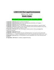 Laws 310 Week 2 Quiz Answers