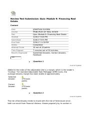 fin 319 Quiz Module 9 Financing Real Estate.docx