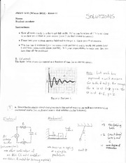 PHYS 1410 exam solutions