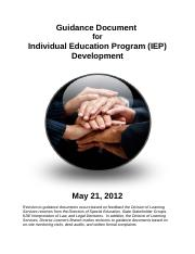 Newport Guidance Document for Individual Education Program IEP Development.doc