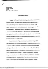 essay on language and conception