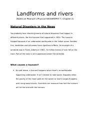 Landforms and Rivers - Natural Disasters in the News.docx