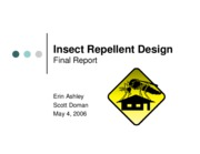 Insect Repellents-Final Presentation