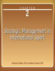 Strategic Management in International Sport