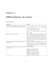 Differentiation of Vectors Lecture