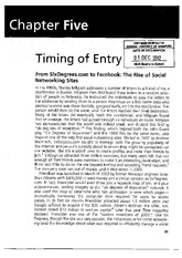 Timing of Entry - from 6degrees to Facebook