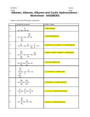 OC02-Alkenes Alkynes and Cyclic Hydrocarbons-Worksheet-ANSWERS.docx