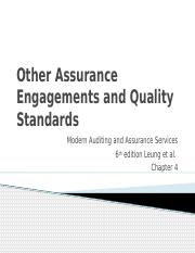 Other engagements  quality standards Chapter 4.pptx