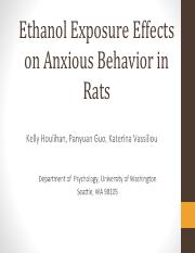 Psych 332 Ethanol Exposure Effects on Anxious Behavior in Rats.pptx.pdf