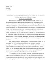 the role of the griot in nianes sundiata an epic of old  4 pages african mini essay