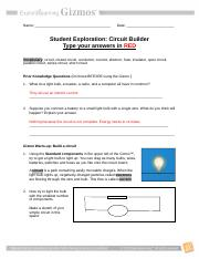 Circuit Builder Gizmo - Electricity.docx - Date March 5 th ...