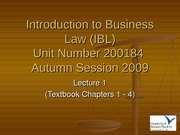 IBL Lecture 1 - Autumn 2009