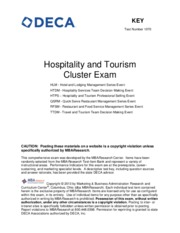 2012_2013_Hospitality_Tourism_Cluster_District_Exam_KEY