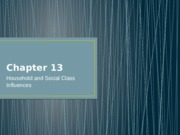 Chapters 12-consumer diversity, 13-household, and 14-individual differences