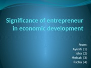 significance of entrepreneurin economic development