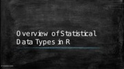 01.1 Overview of Statistical Data Types