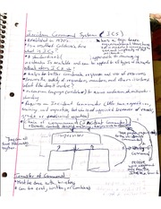 Notes On Incident Command System