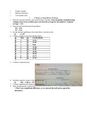 8 steps to hypothesis testing homework.docx