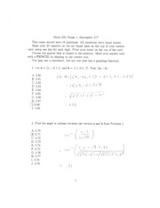 Exam 1 Solutions Fall 2010