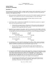 Intermediate Accounting Assignment 1