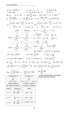 new equation sheet