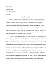 Sahil's Islam Paper final copy