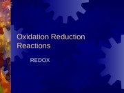 6. Oxidation Reduction Reactions.ppt