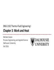 Chapter 3 - Work and Heat