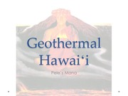 Geothermal Hawaii