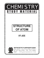 IIT_Class_XI_Chem_Structure of Atoms pdf