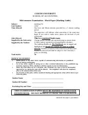 Mock Paper(Auditing 551)Semester 2 2014_Marking Guide