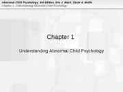 chapter 1 slides for abnormal child psychology
