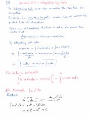 Section 8.2 - Integration by Parts