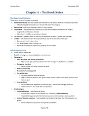 Chapter 6 - Textbook Notes