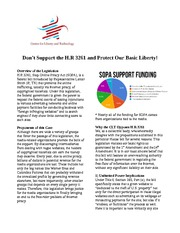 SOPA - One Pager