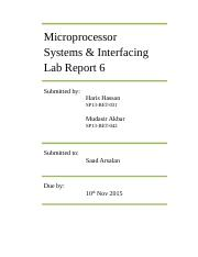Microp. Lab report 6