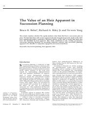 The Value of an Heir Apparent in Succession Planning.pdf