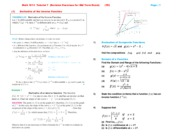 Math 1013  Tutorial 7  (Revision Exercises for Mid Term Exam)