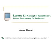 Lec 12 Concept of Variables in C