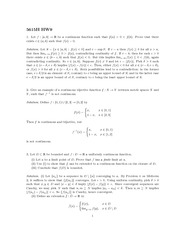 Homework 9 Solution Fall 2013 on Mathematical Analysis