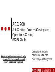 #07 CH3 MOODLE ACC200 Job  Process Cost - Fall 2015