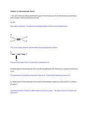 Chapter -11 Intermolecular Forces Answers