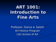 ART 1001 - Lecture 12