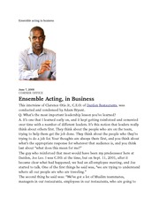 Ensemble acting in business