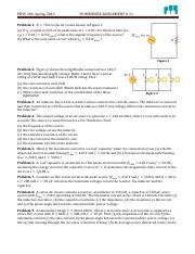 PHYS 104 Spring 2014 Assignment 11
