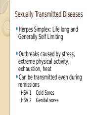 Sexually Transmitted Diseases (2)