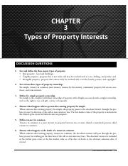 03 SM - Types of Property Interests