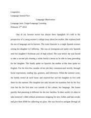 linguistics journal two