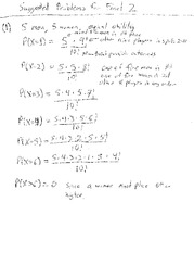 Suggested Problems for Final 2 with Answers