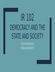 IR 102 DEMOCRATIC STATE